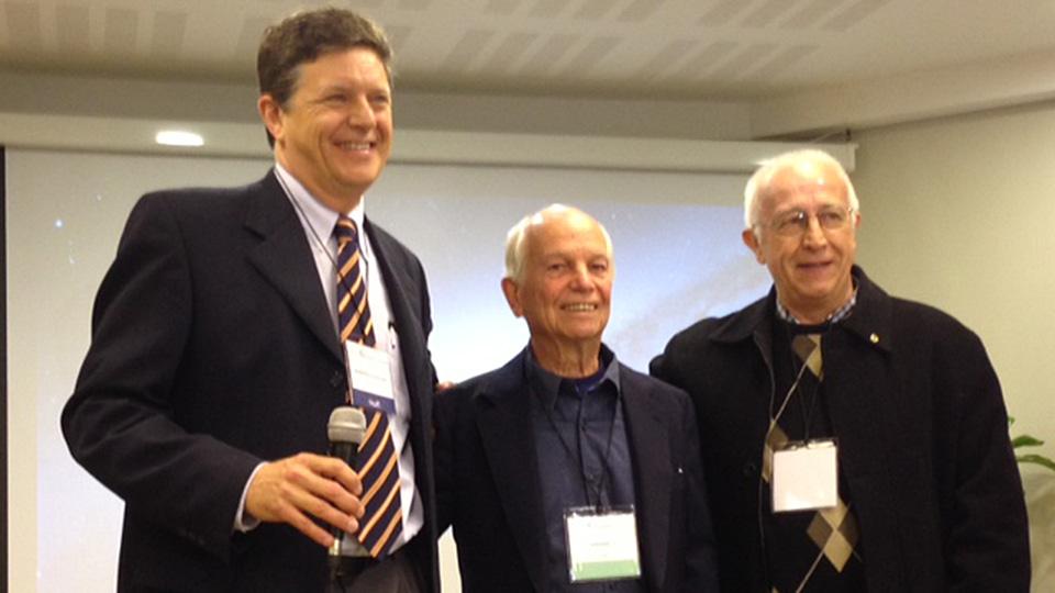 v.l.n.r.: dr. Marcelo Martinez-Ferro, dr. Donald Nuss, dr. Carlos Fraire